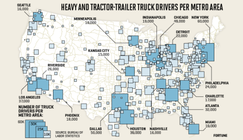 Where Truck Drivers Will Lose Their Jobs In the Next 25